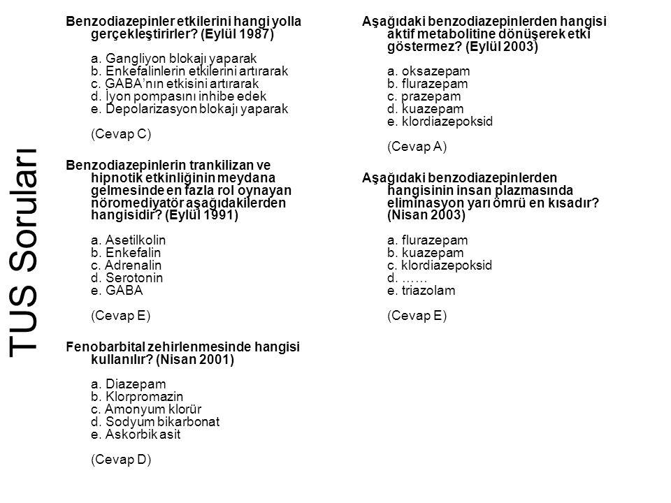Benzodiazepinler etkilerini hangi yolla gerçekleştirirler