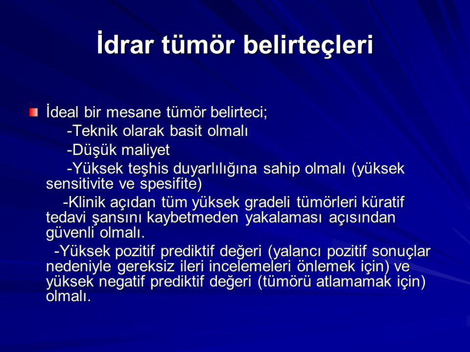 İdrar tümör belirteçleri