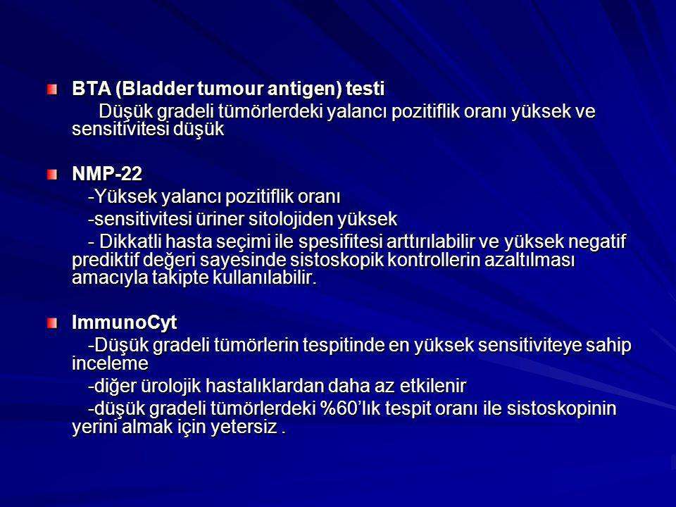 BTA (Bladder tumour antigen) testi