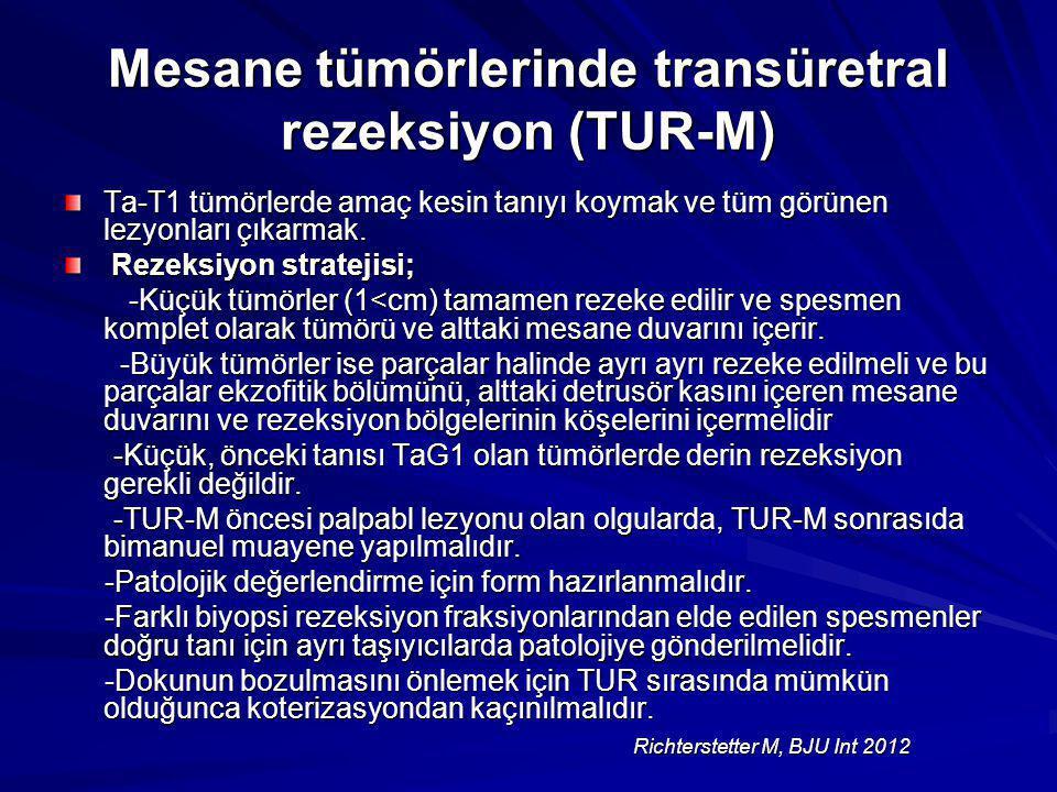Mesane tümörlerinde transüretral rezeksiyon (TUR-M)