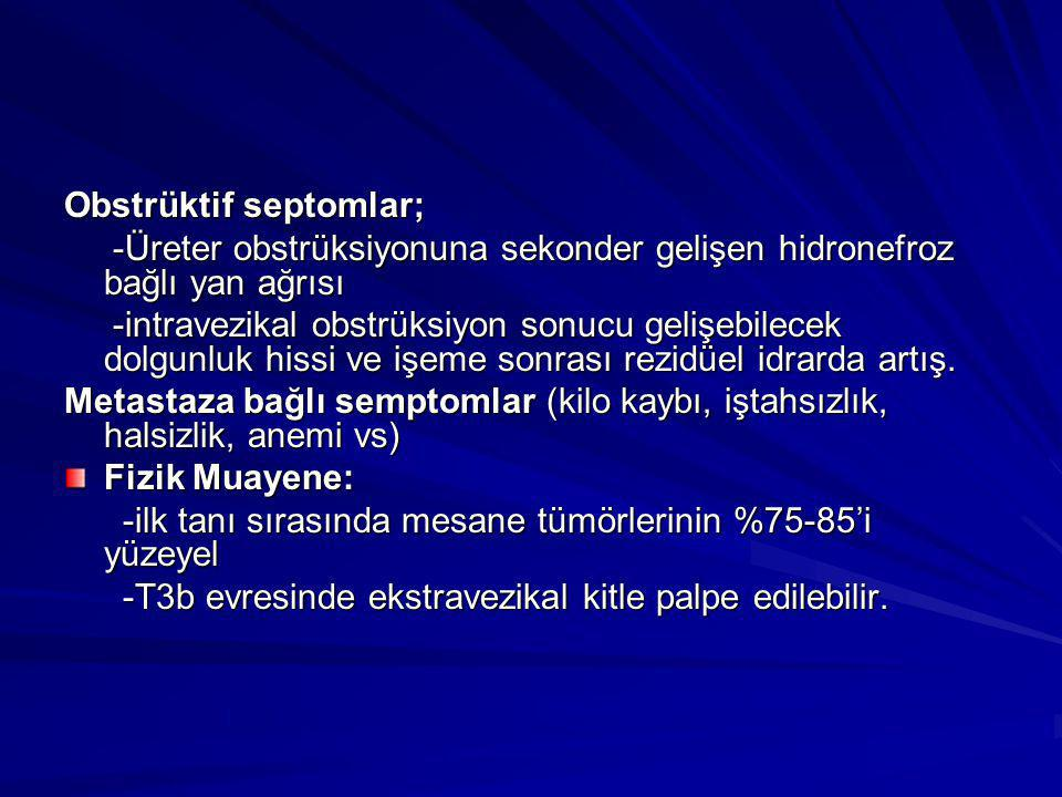 Obstrüktif septomlar;
