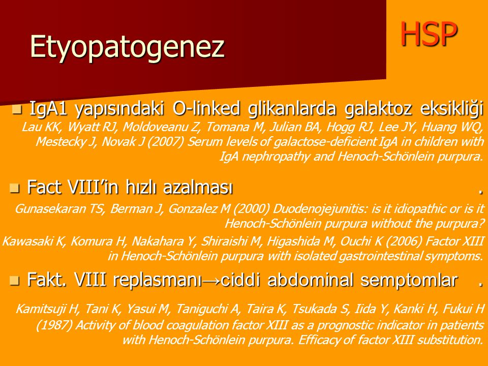 HSP Etyopatogenez.