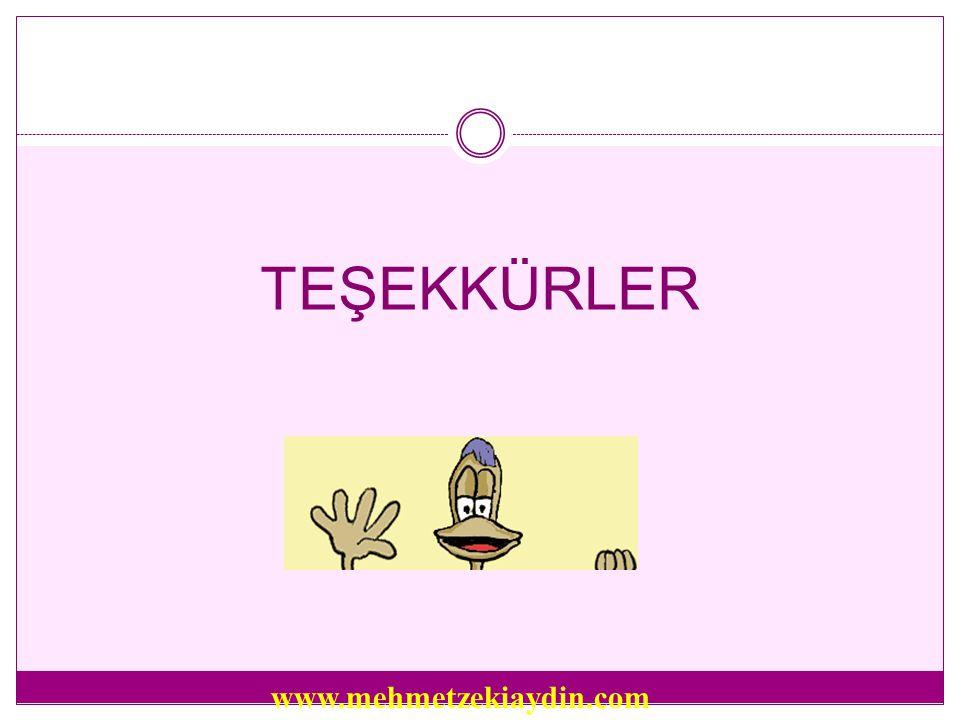 TEŞEKKÜRLER www.mehmetzekiaydin.com