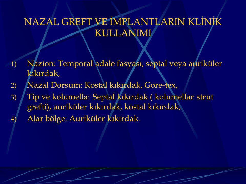 NAZAL GREFT VE İMPLANTLARIN KLİNİK KULLANIMI