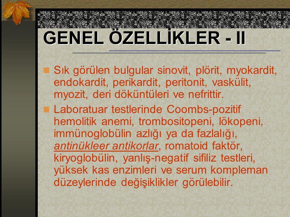 GENEL ÖZELLİKLER - II