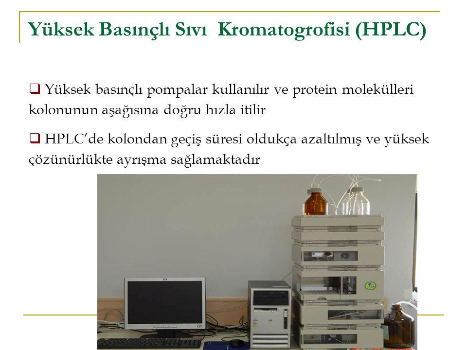 Yüksek Basınçlı Sıvı Kromatogrofisi (HPLC)