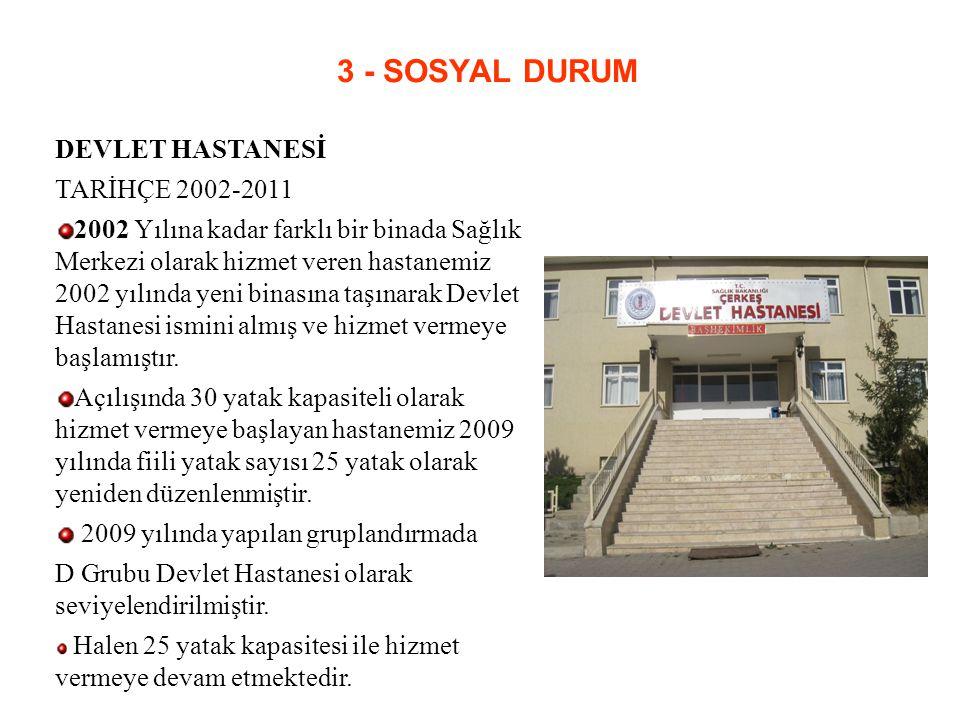 3 - SOSYAL DURUM DEVLET HASTANESİ TARİHÇE 2002-2011