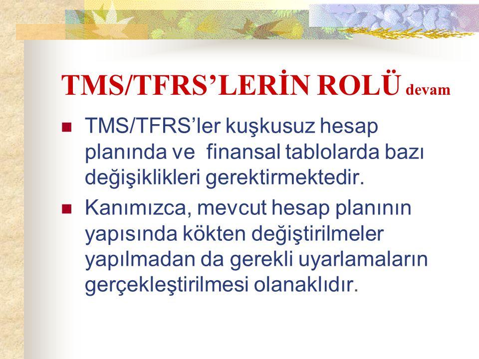 TMS/TFRS'LERİN ROLÜ devam