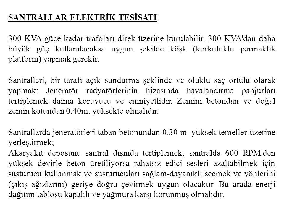 SANTRALLAR ELEKTRİK TESİSATI
