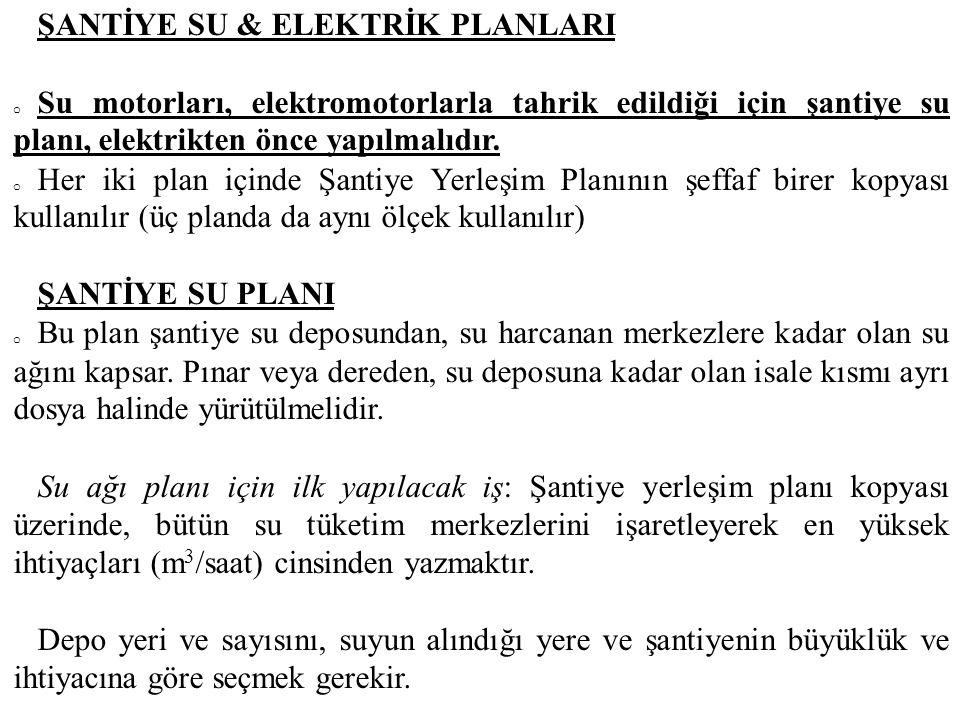 ŞANTİYE SU & ELEKTRİK PLANLARI