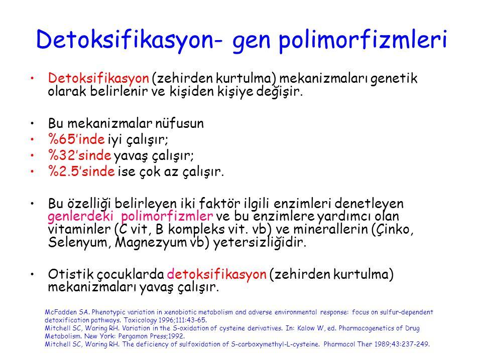Detoksifikasyon- gen polimorfizmleri