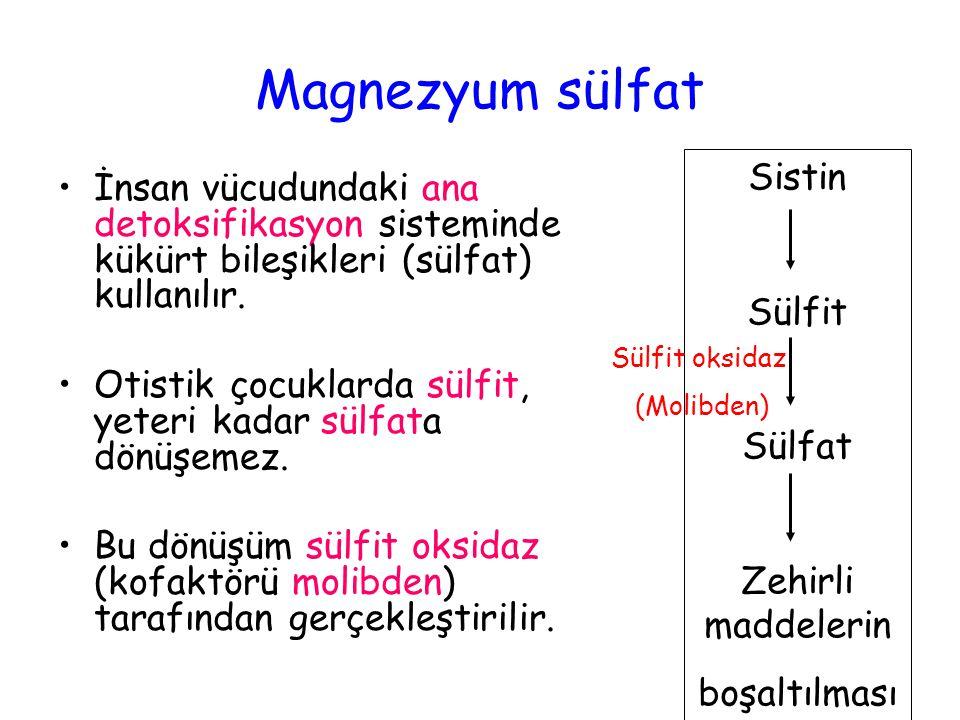 Magnezyum sülfat Sistin