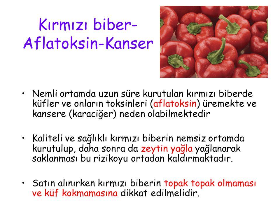 Kırmızı biber-Aflatoksin-Kanser