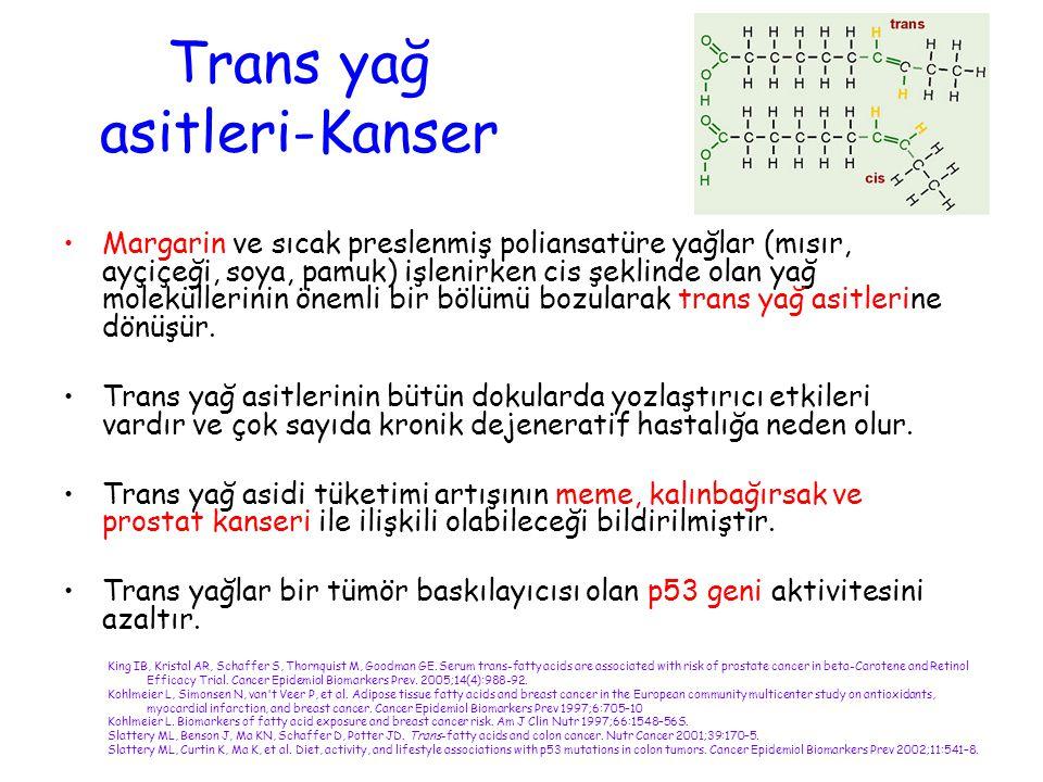 Trans yağ asitleri-Kanser