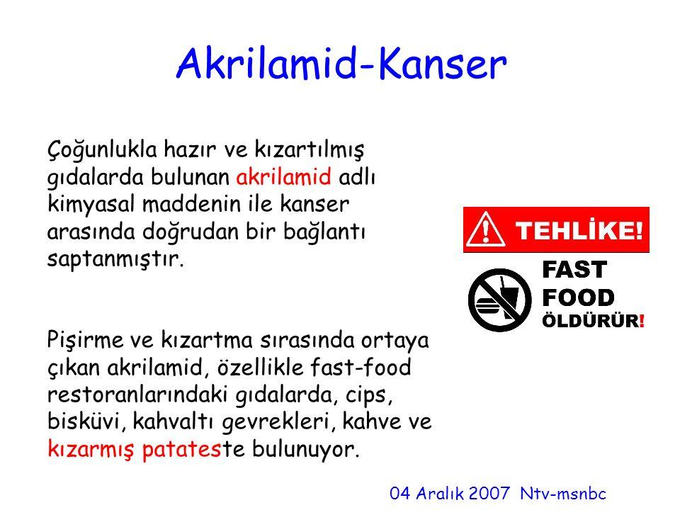 Akrilamid-Kanser