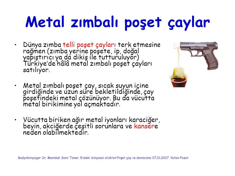 Metal zımbalı poşet çaylar