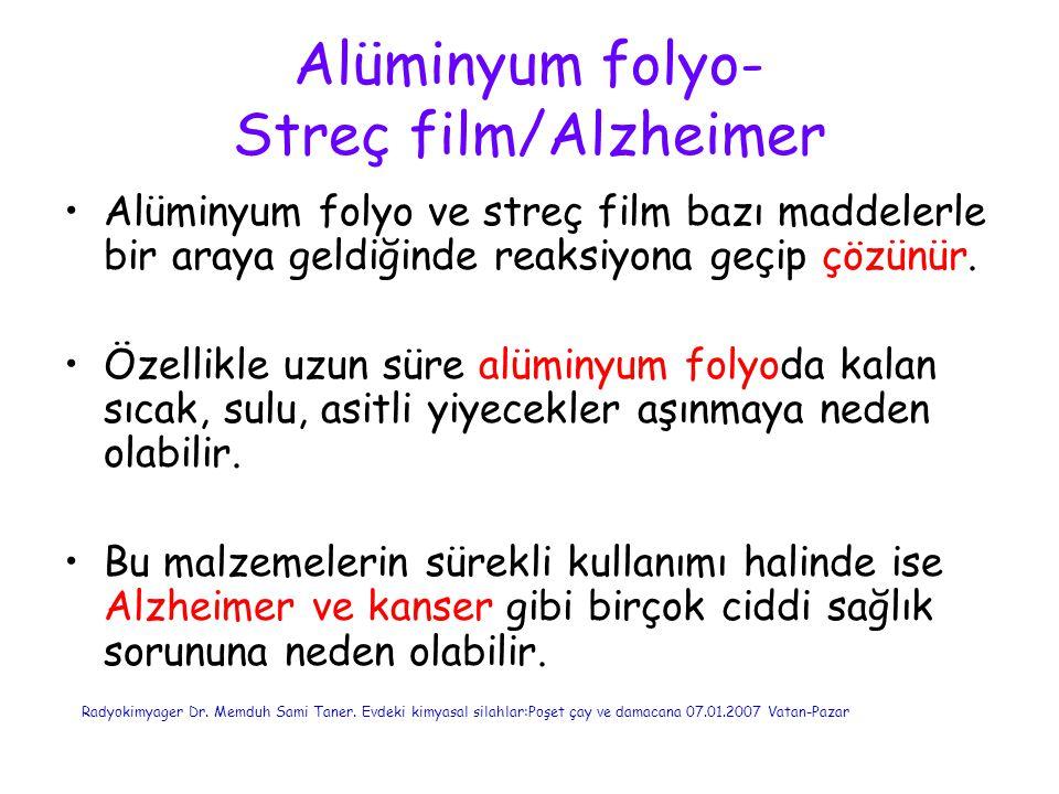 Alüminyum folyo- Streç film/Alzheimer