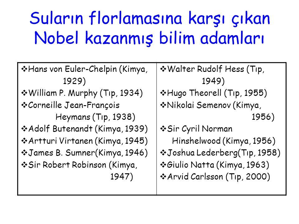Suların florlamasına karşı çıkan Nobel kazanmış bilim adamları