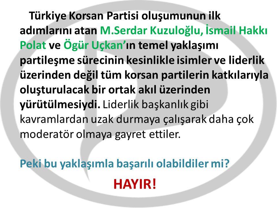 Türkiye Korsan Partisi oluşumunun ilk adımlarını atan M