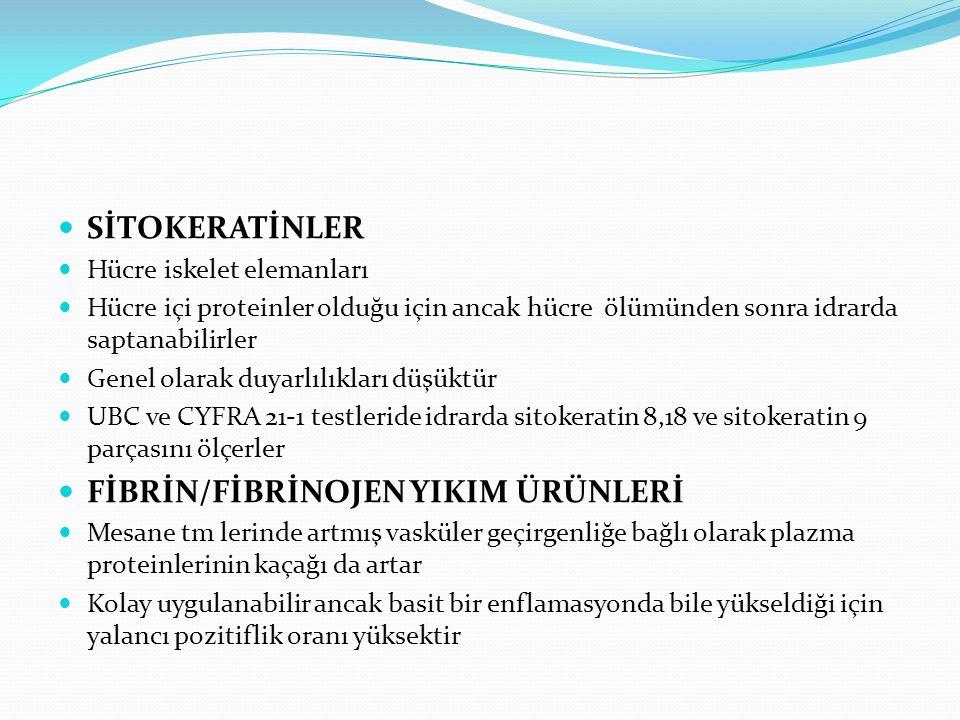 FİBRİN/FİBRİNOJEN YIKIM ÜRÜNLERİ