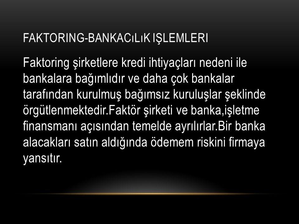 Faktoring-Bankacılık işlemleri