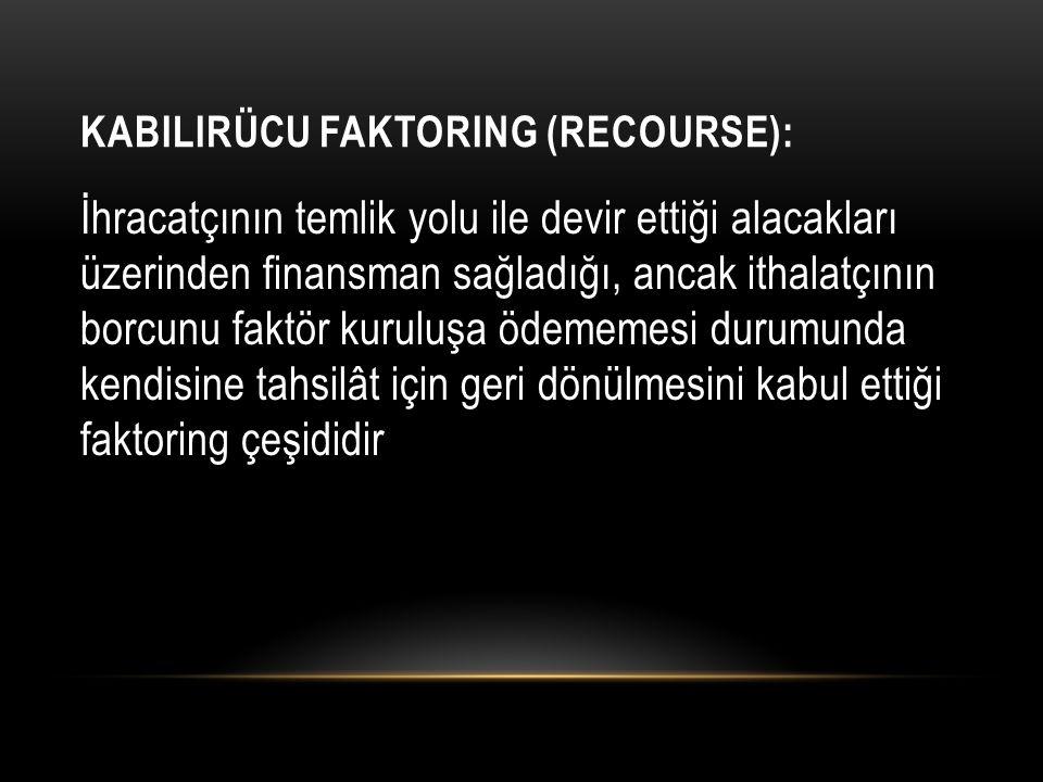 Kabilirücu Faktoring (Recourse):