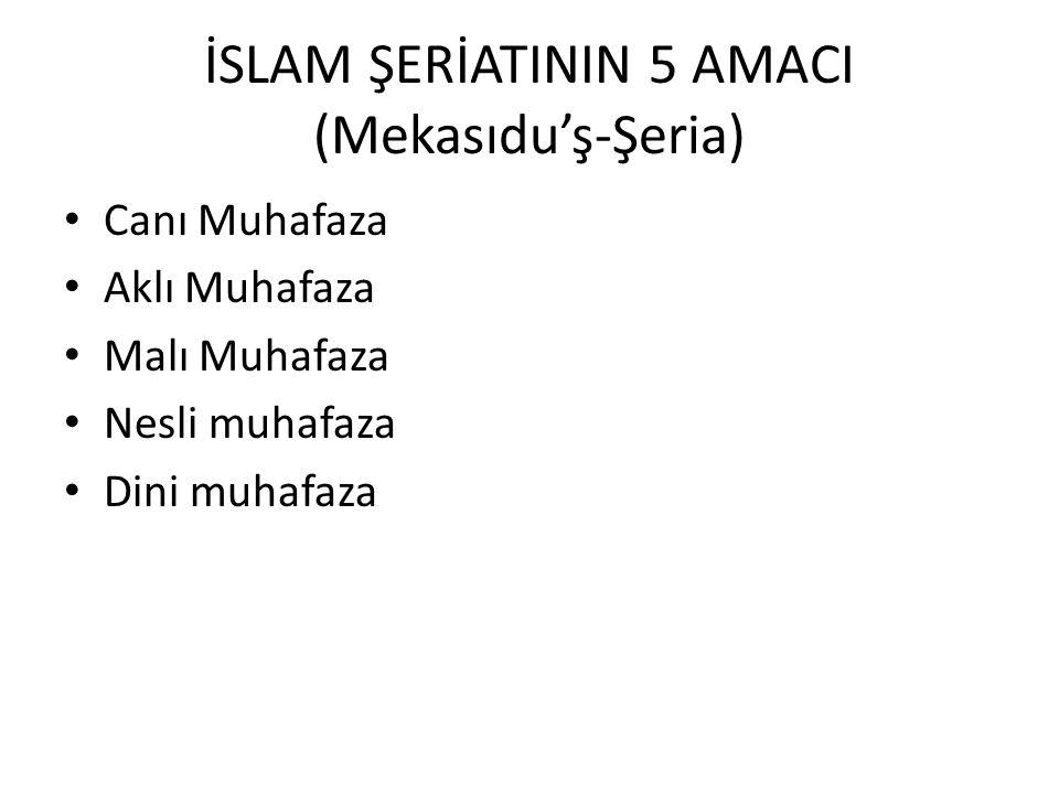 İSLAM ŞERİATININ 5 AMACI (Mekasıdu'ş-Şeria)