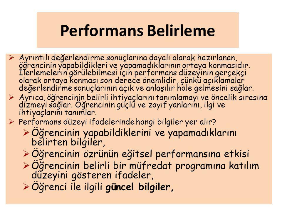 Performans Belirleme