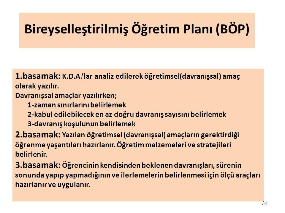 Bireyselleştirilmiş Öğretim Planı (BÖP)