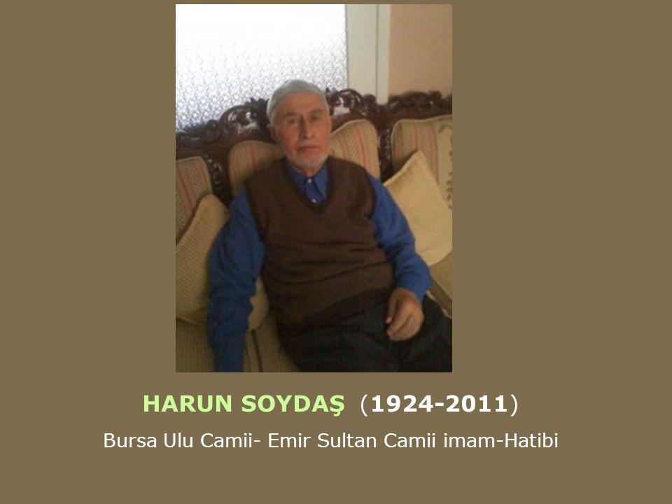 Bursa Ulu Camii- Emir Sultan Camii imam-Hatibi
