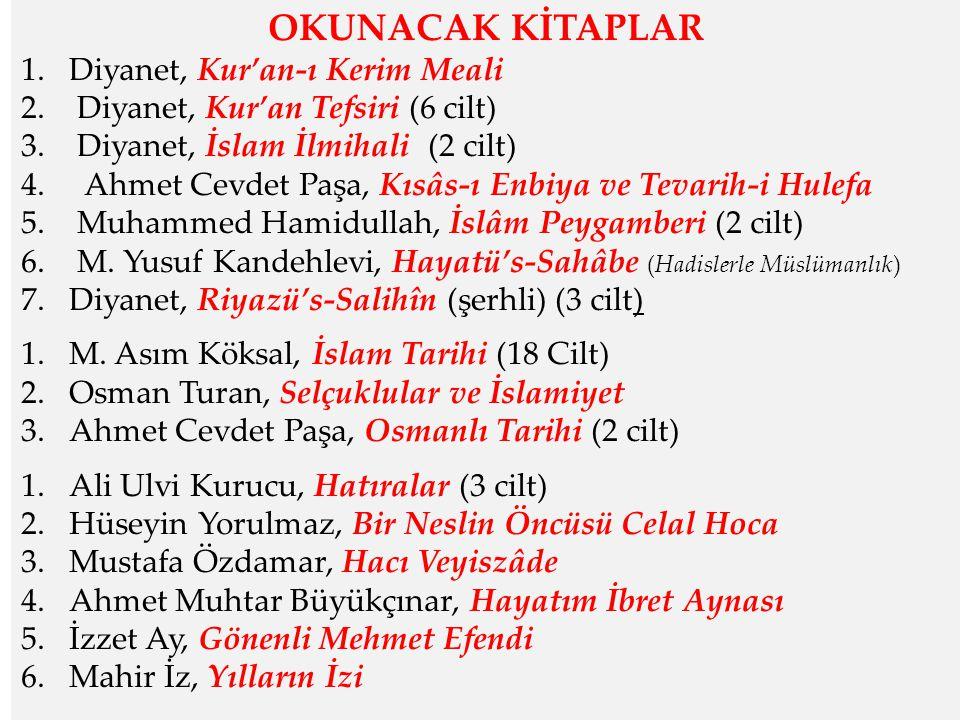 OKUNACAK KİTAPLAR Diyanet, Kur'an-ı Kerim Meali