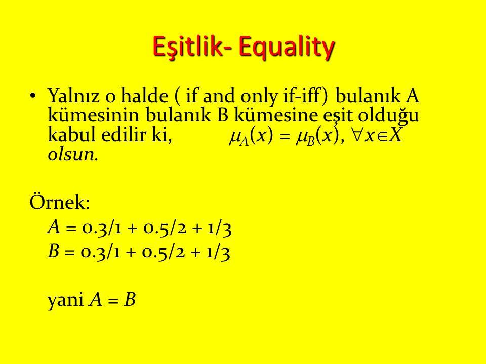 Eşitlik- Equality