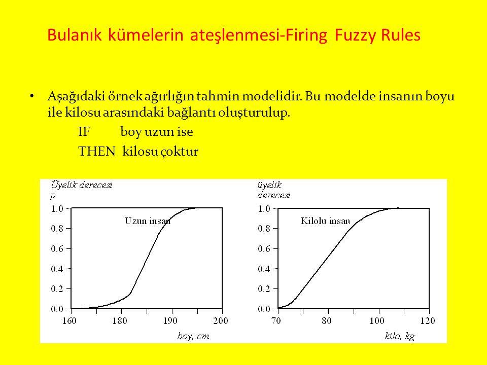 Bulanık kümelerin ateşlenmesi-Firing Fuzzy Rules