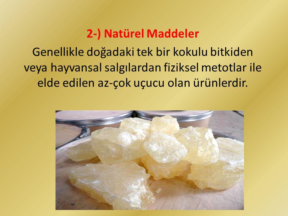 2-) Natürel Maddeler
