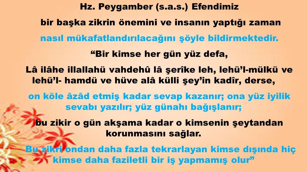 Hz. Peygamber (s.a.s.) Efendimiz