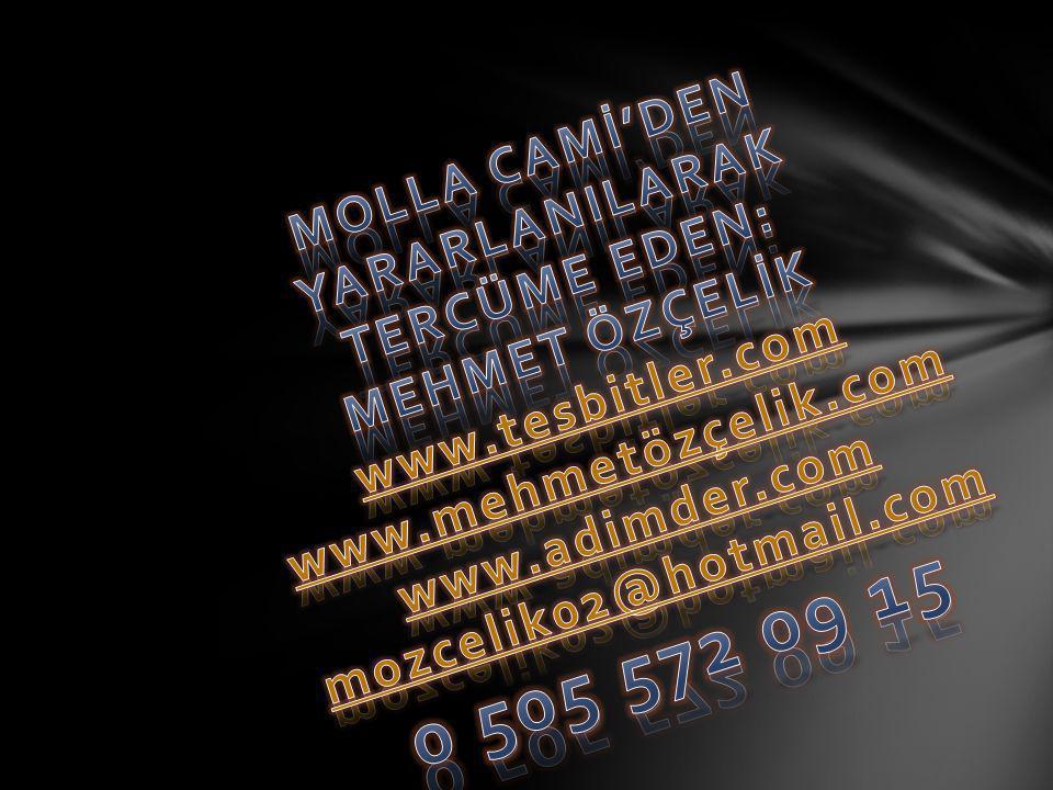 MOLLA CAMİ'DEN YARARLANILARAK TERCÜME EDEN: