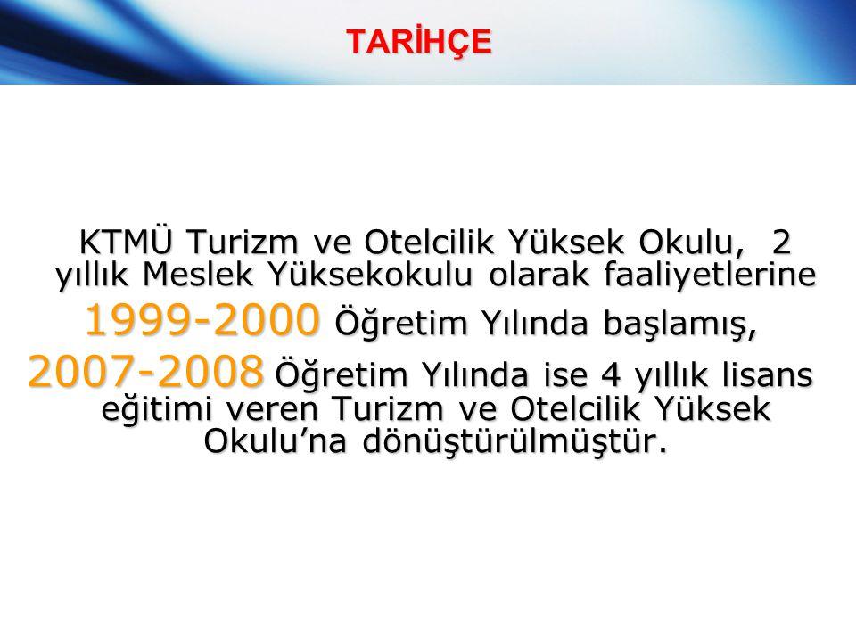 1999-2000 Öğretim Yılında başlamış,