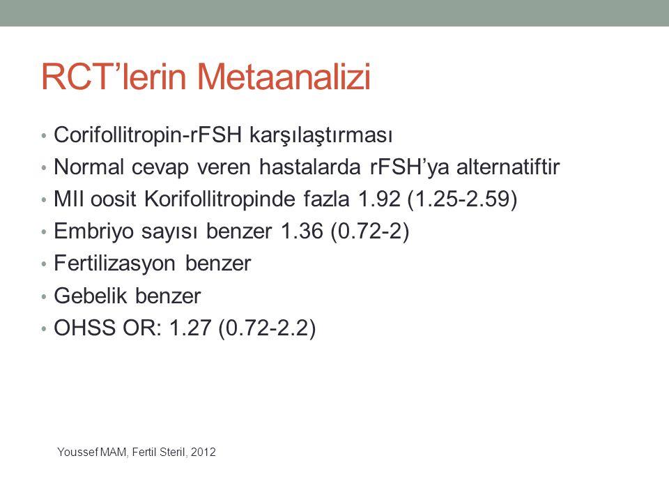 RCT'lerin Metaanalizi