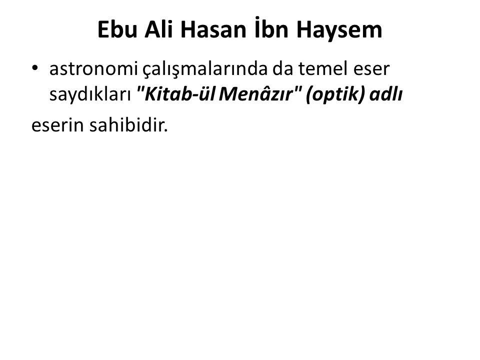 Ebu Ali Hasan İbn Haysem