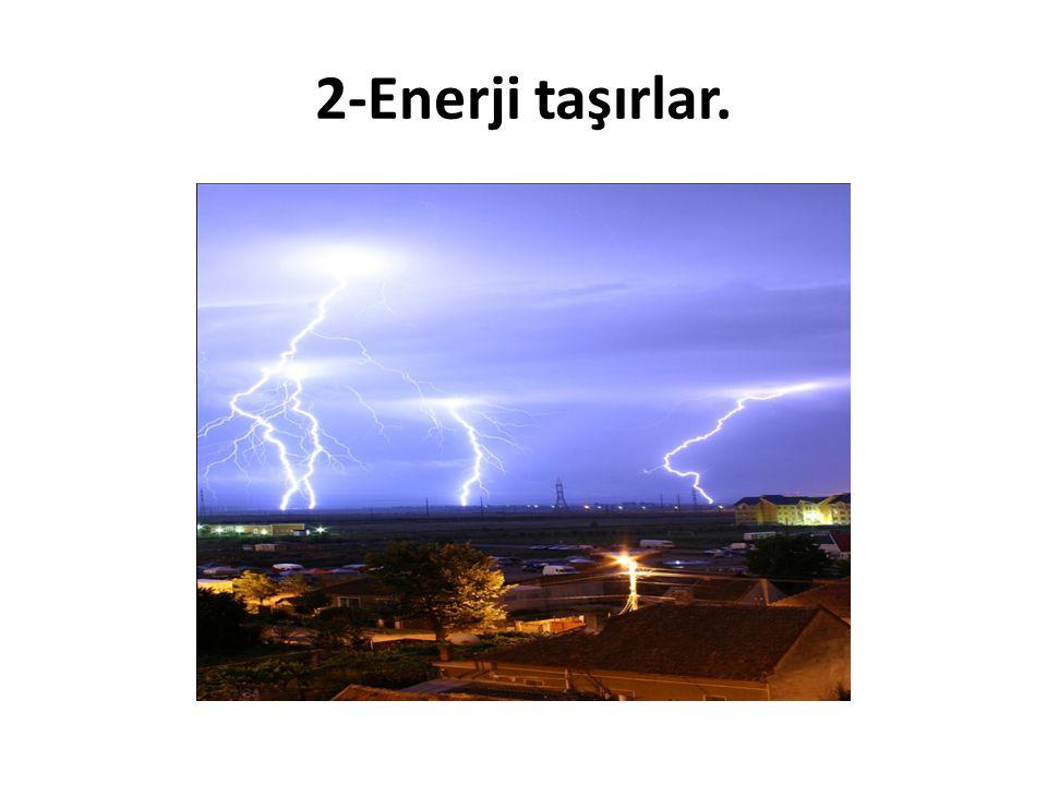 2-Enerji taşırlar.