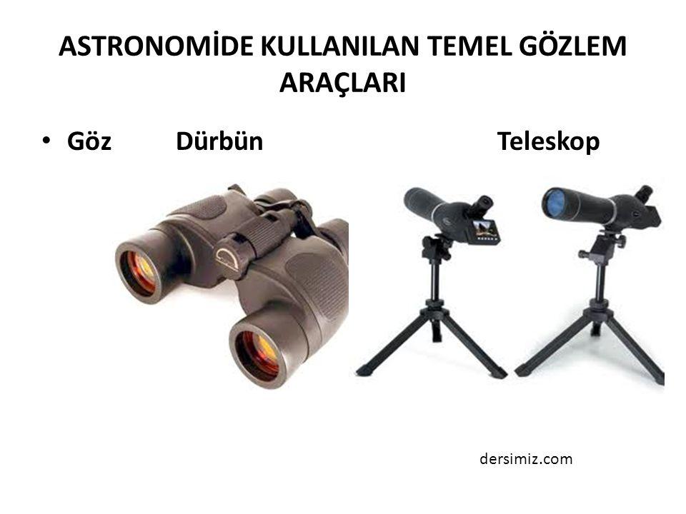 ASTRONOMİDE KULLANILAN TEMEL GÖZLEM ARAÇLARI