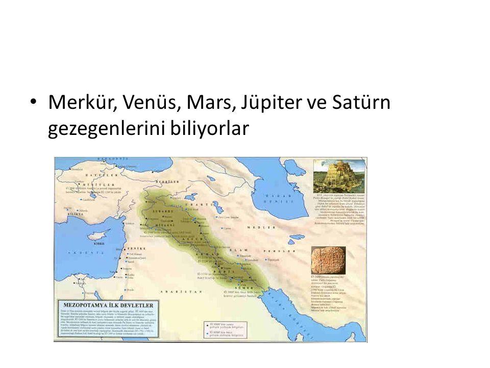 Merkür, Venüs, Mars, Jüpiter ve Satürn gezegenlerini biliyorlar