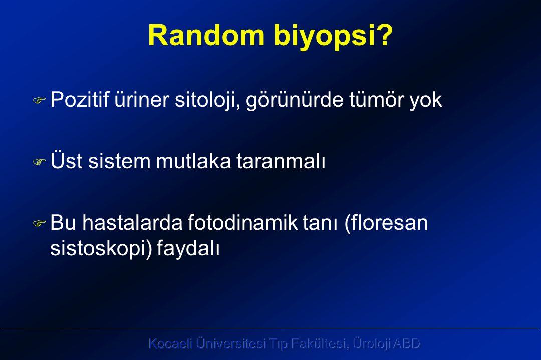 Random biyopsi Pozitif üriner sitoloji, görünürde tümör yok