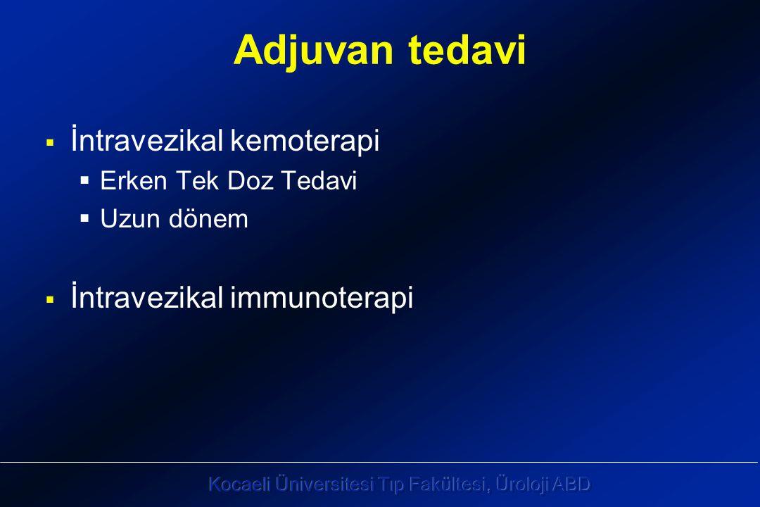 Adjuvan tedavi İntravezikal kemoterapi İntravezikal immunoterapi