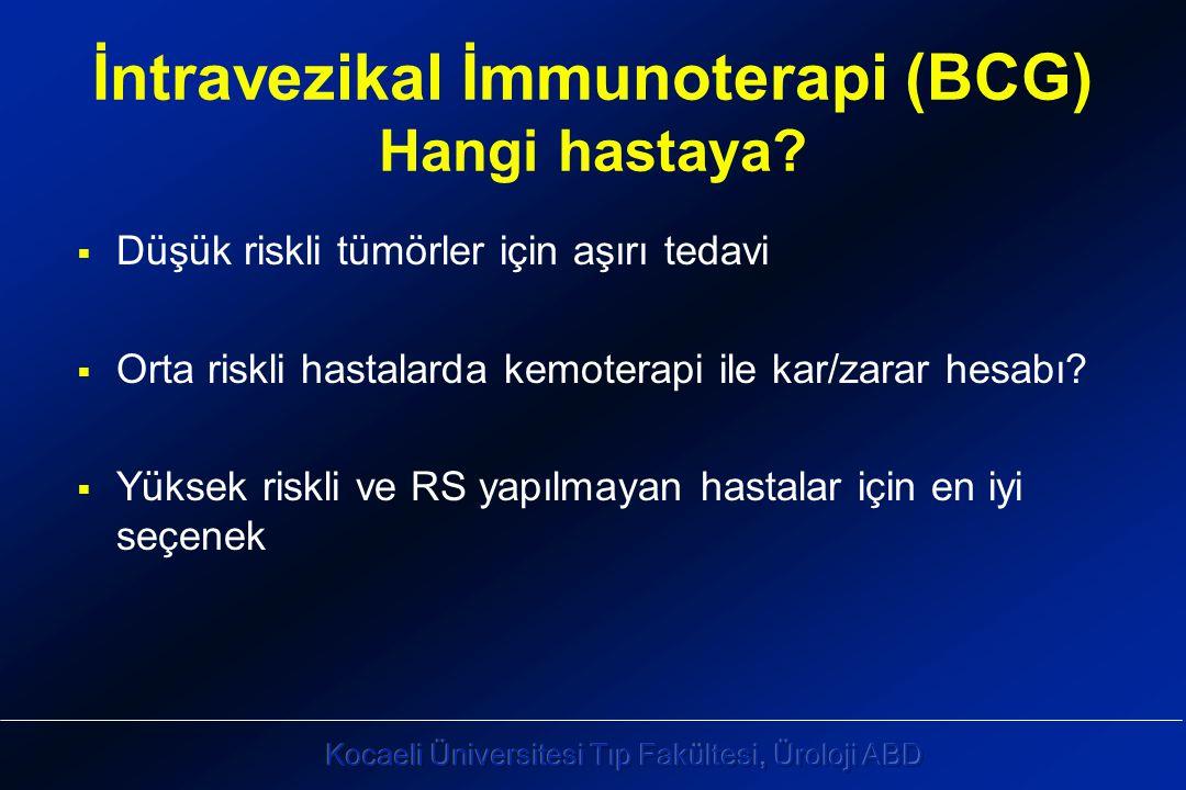 İntravezikal İmmunoterapi (BCG) Hangi hastaya