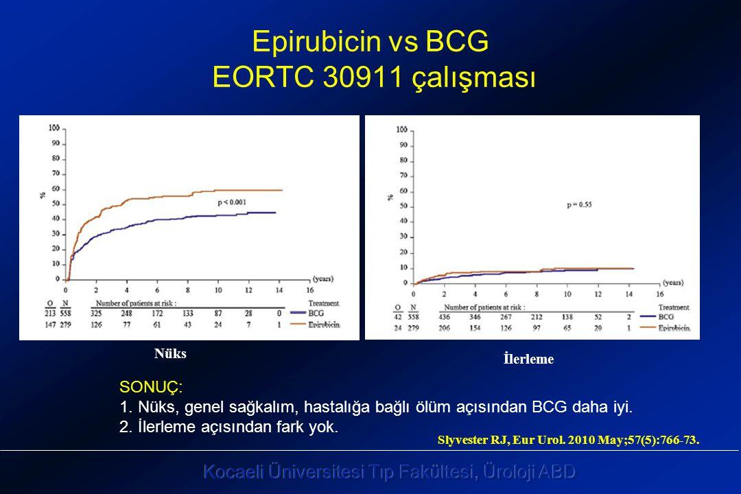 Epirubicin vs BCG EORTC 30911 çalışması