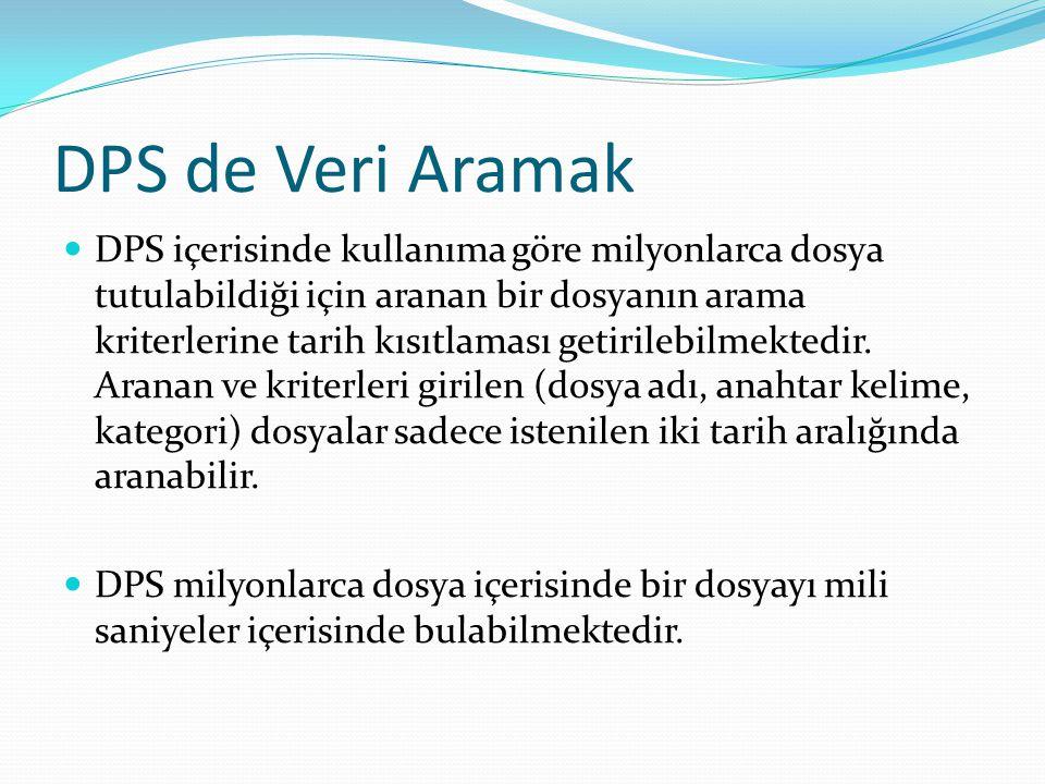 DPS de Veri Aramak