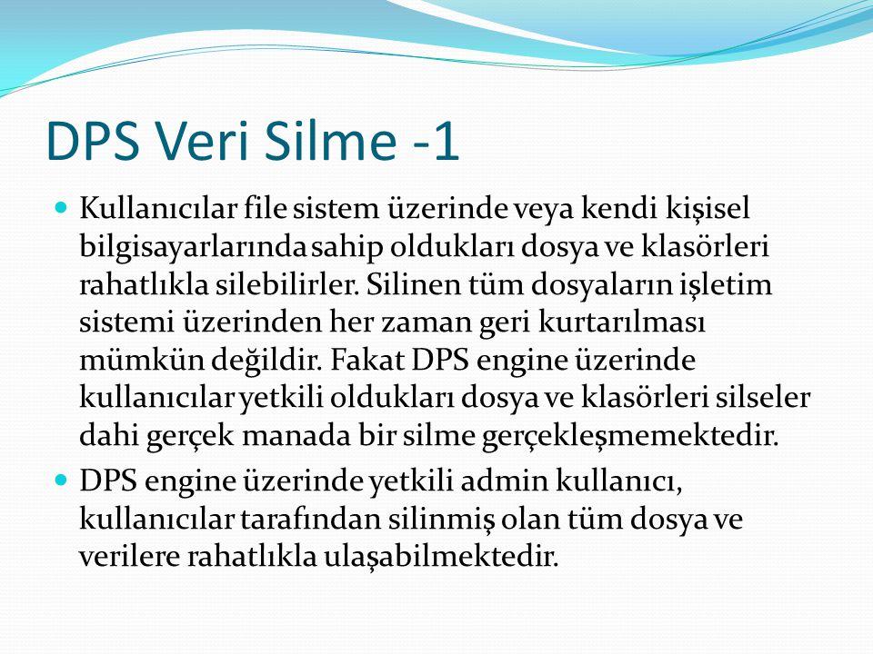 DPS Veri Silme -1