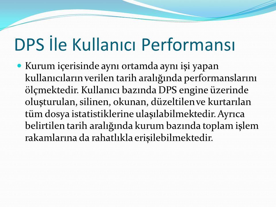 DPS İle Kullanıcı Performansı