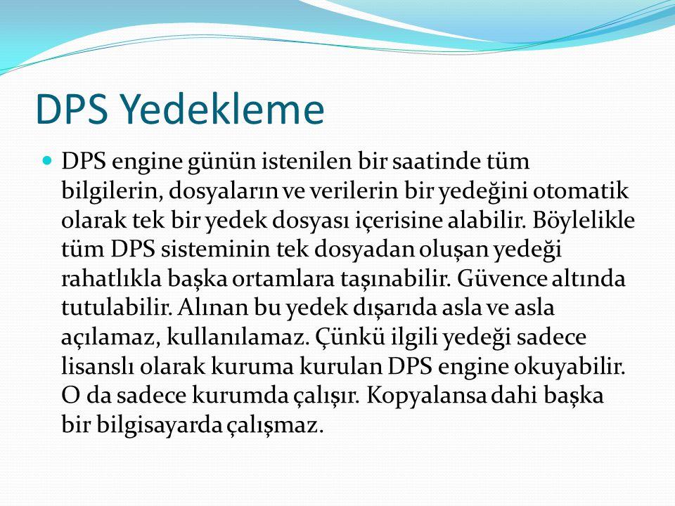 DPS Yedekleme